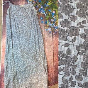 Eddie Bauer Chambray Straight Cut Maxi Dress